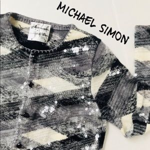 Vintage Michael Simon | Sequin Sweater Cardigan